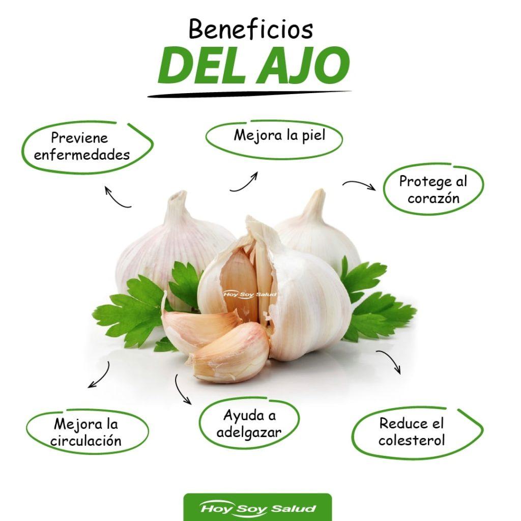Infografia de los beneficios del ajo