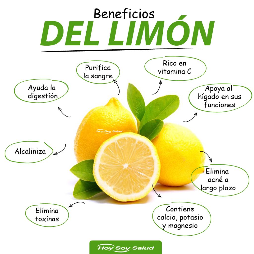 Infografia beneficios del limón