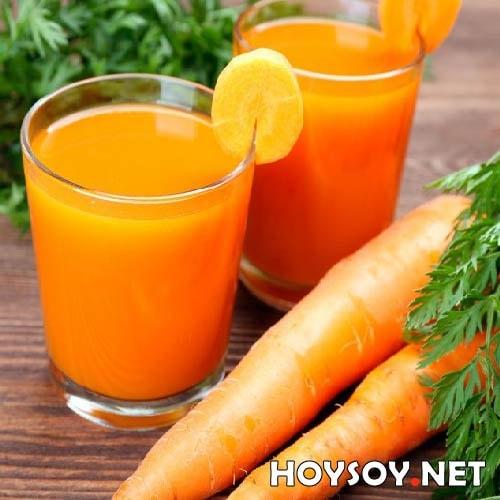 Jugo con zanahorias