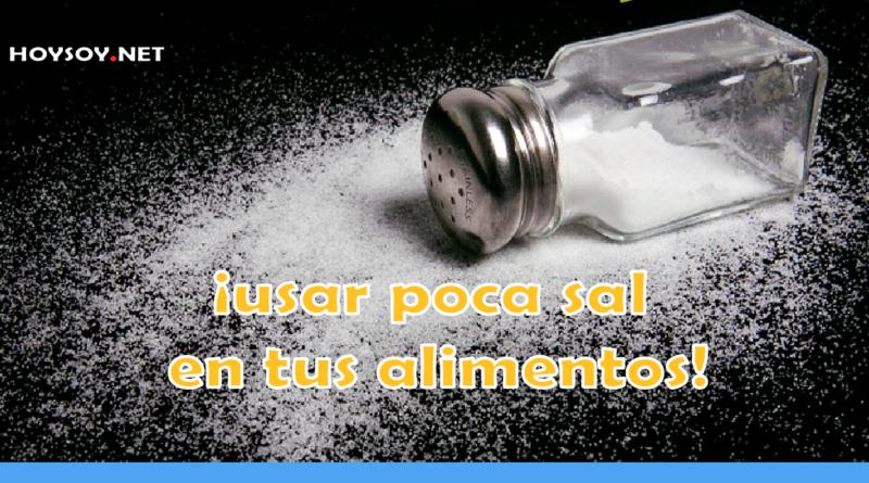 usar poca sal en tus alimentos