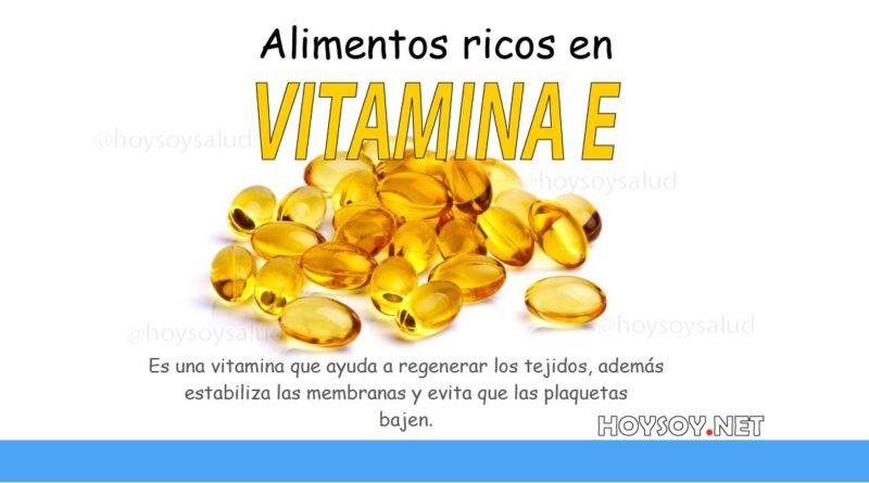 Alimentos ricos en vitaminas E