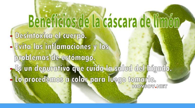 Beneficios saludables de la cáscara de limón