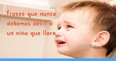 Frases que nunca debemos decir a un niño que llora