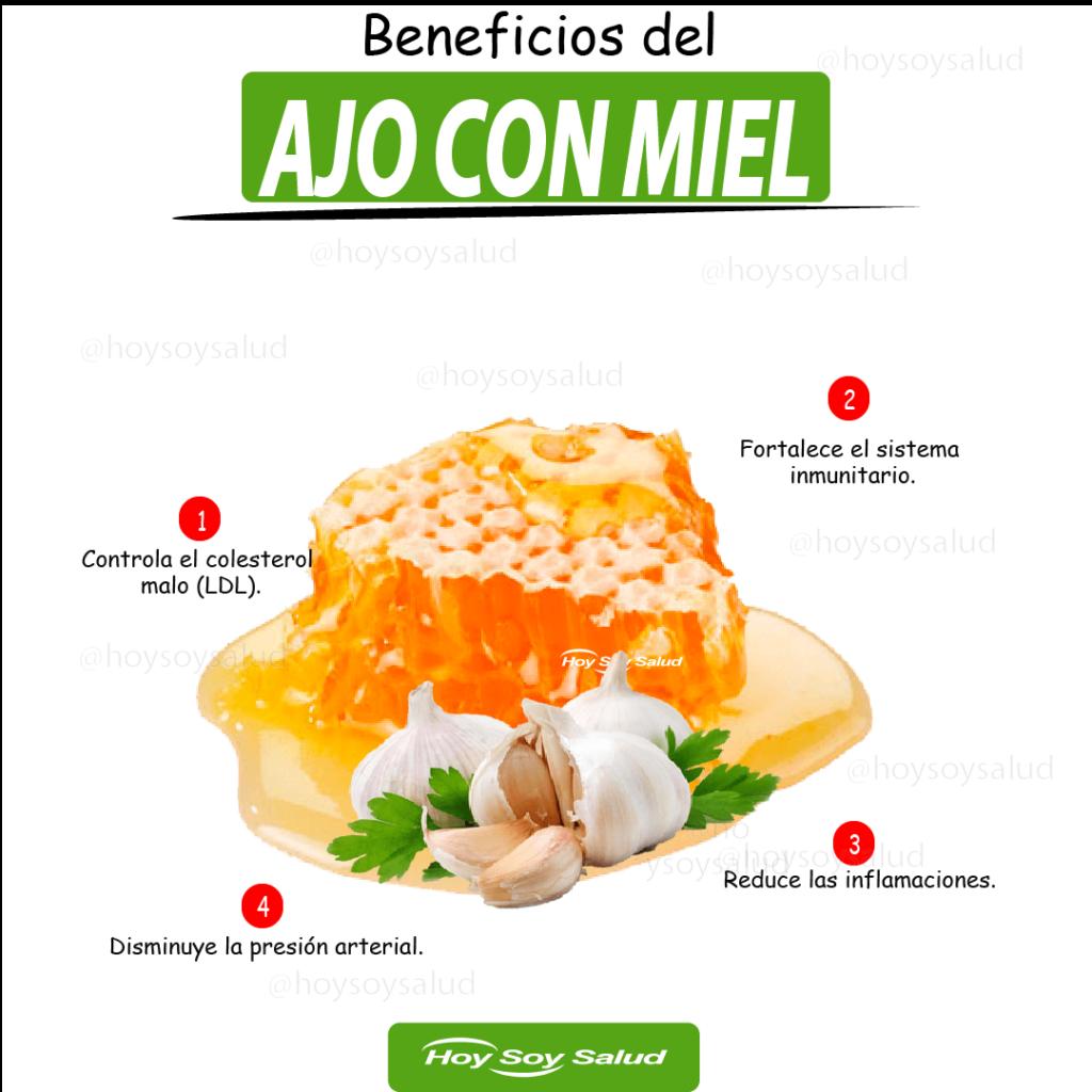 Beneficios del ajo con miel