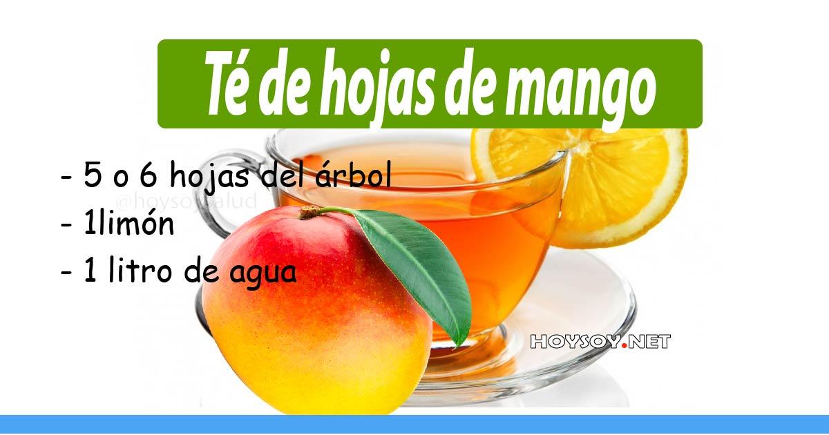 té de hojas de mango