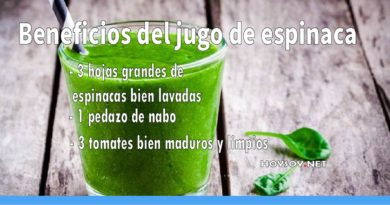 Beneficios del jugo saludable de espinaca