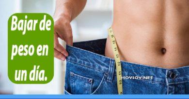 bajar de peso en un día