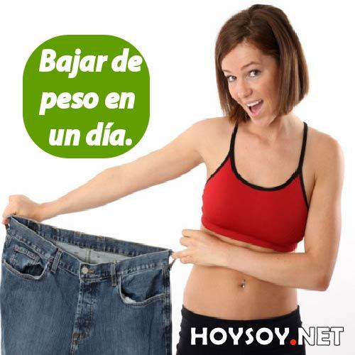 Bajar de peso en un día es posible