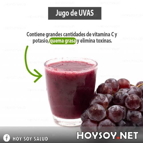Beneficios del jugo de uvas