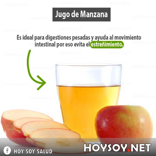 Beneficios del jugo de manzana