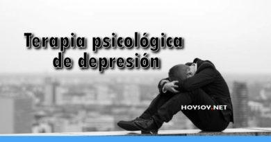 Terapia psicológica de depresión
