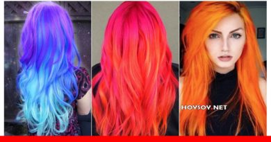 cabello color neon