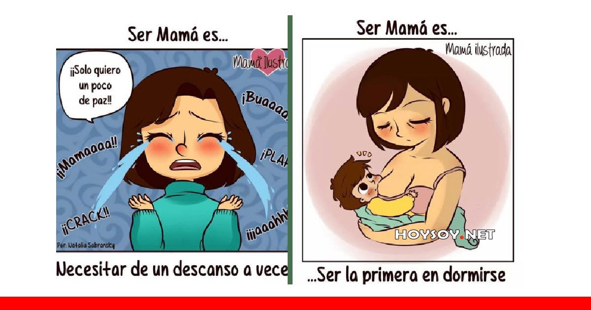 la vida de una mama ilustrada