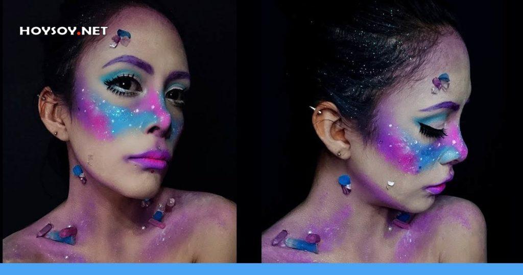 maquillaje galaxia