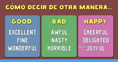 tabla de inglés básico