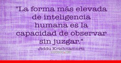 La forma más elevada de inteligencia humana es la capacidad de observar sin juzgar