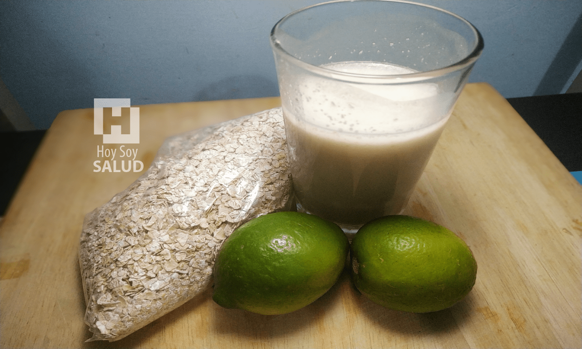 agua de avena con limón