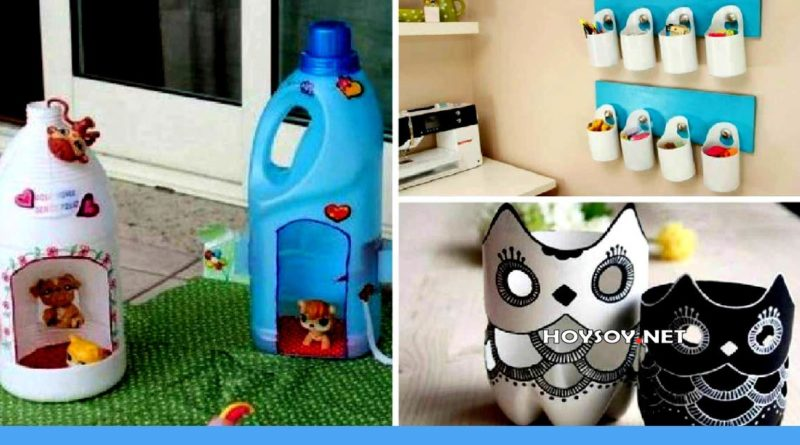 ideas creativas con las botellas plásticas