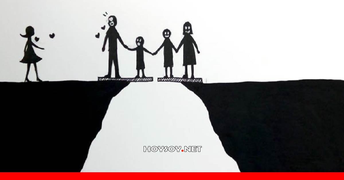 ilustraciones que describen como afecta el divorcio a una familia