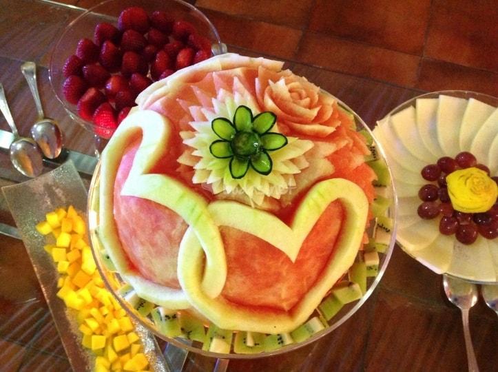 creaciones con frutas