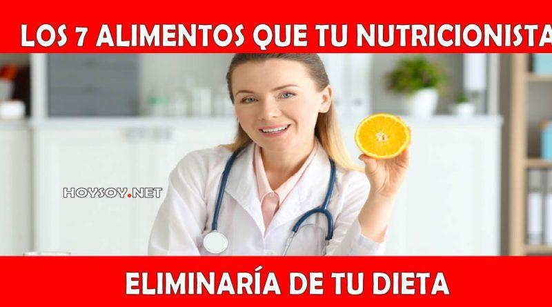 7 alimentos que tu nutricionista eliminaría de tu dieta