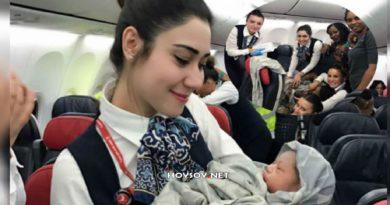 Este bebé nació en pleno vuelo y como «recompensa» ganó pasajes aéreos de por vida